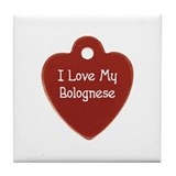 Love My Bolognese Tile Coaster