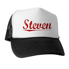 Steven, Vintage Red Trucker Hat