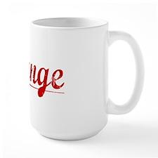 Strange, Vintage Red Mug