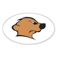 The Mighty Meerkat Oval Decal