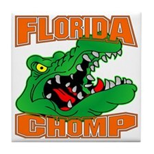 blk_Florida_Gator_Chomp_002 Tile Coaster