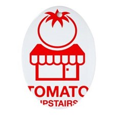 The Tomato Upstairs Red Oval Ornament