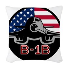 B-1B Bone Woven Throw Pillow