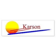 Karson Bumper Bumper Sticker