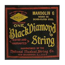 Black Diamond Vintage String Ad. Tile Coaster