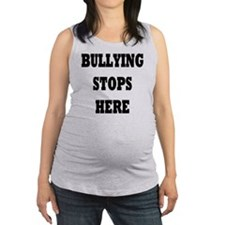 Bullying Stops Here Maternity Tank Top