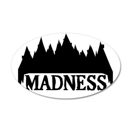 At The Mountains Of Madness 35x21 Oval Wall Decal