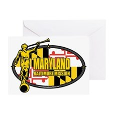 Maryland Baltimore LDS Mission Cloth Greeting Card