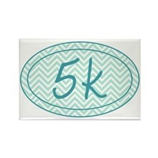 5k Blue Chevron Rectangle Magnet