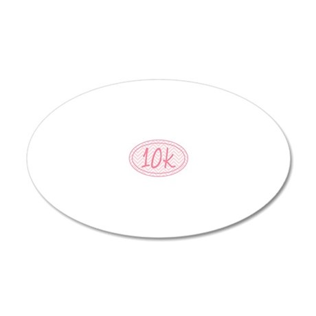 10k Pink Chevron 20x12 Oval Wall Decal