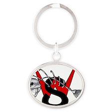 Logo Oval Keychain