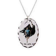 Runner T-shirt Necklace Oval Charm