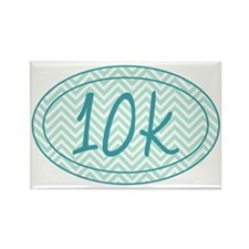 10k Blue Chevron Rectangle Magnet