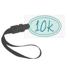 10k Blue Chevron Luggage Tag
