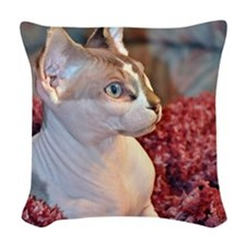 Little George Hairlesson Woven Throw Pillow