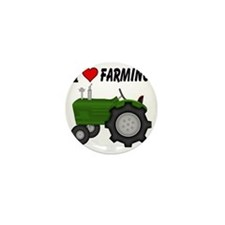 I  Love (Heart) Farming Mini Button
