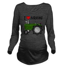 I  Love (Heart) Farm Long Sleeve Maternity T-Shirt