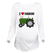I  Love (Heart) Farm Long Sleeve Maternity T-Shirt