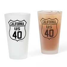 US Route 40 - California Drinking Glass