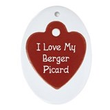 Love My Berger Oval Ornament