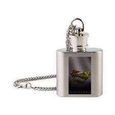 Cheeses in a Manger Flask Necklace
