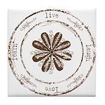 live, laugh, love, learn Tile Coaster
