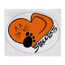 Streetcats logo white oval for dark  Throw Blanket