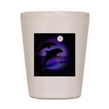 Dolphins bg Shot Glass