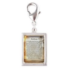 The Desiderata Poem by Max E Silver Portrait Charm