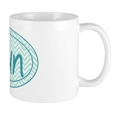 Run Blue Chevron Mug