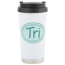 Triathlon Blue Chevron Travel Mug