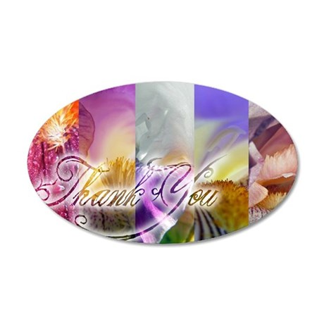 Thank You too 35x21 Oval Wall Decal