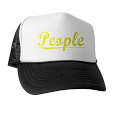 People, Yellow Trucker Hat