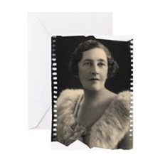 Agatha Cristie Greeting Card