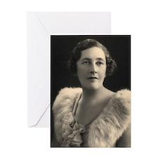 Agatha Cristie Greeting Card