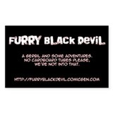 Furry Black Devil Rectangle Decal
