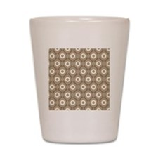 Abstract Dots Shower Curtain Shot Glass
