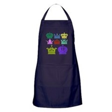 Colored Crown Silhouette Collection Apron (dark)