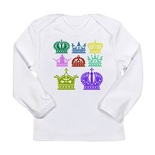 Colored Crown Silhouette Collection Long Sleeve T-