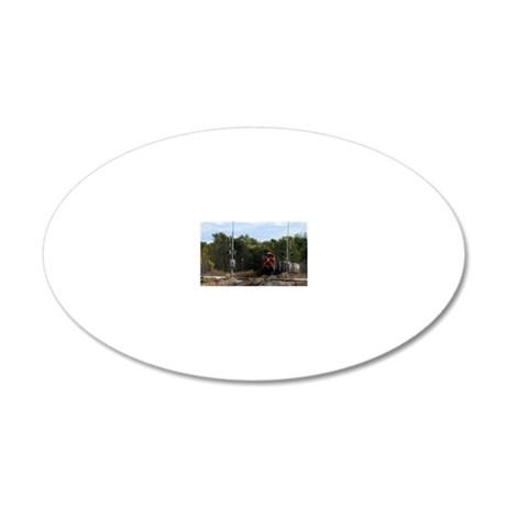 Here Comes The Train!-patch 20x12 Oval Wall Decal