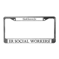 Thank Heaven ER BRT License Plate Frame