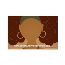 "Brown Lady ""Jenn-Jenny"" Rectangle Magnet"