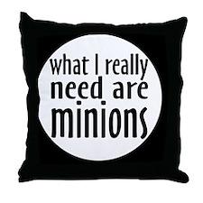 minionsbutton Throw Pillow