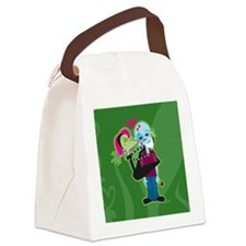 Zombie Valentine Canvas Lunch Bag