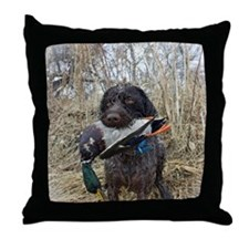 German wirehaired pointer calendar Throw Pillow