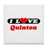 I Love Quinton Tile Coaster
