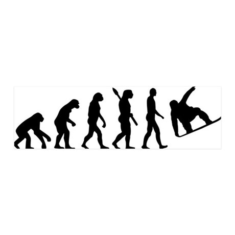 Evolution Snowboard 20x6 Wall Decal