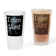 Team Ghost on Black Background Drinking Glass