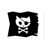 Pirate Kitty Jolly Roger Postcards (Package of 8)