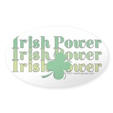 Irish Power Oval Decal